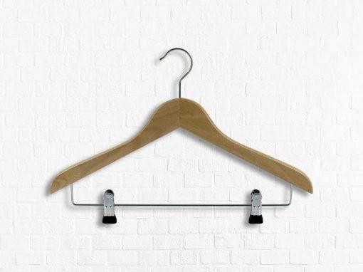 Shirtbügel aus Buchenholz